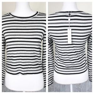 Trina Turk NWT Alfie Striped Crew Neck Striped Top